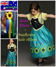 Frozen Fever Anna Dress - NEW - Sunflower hair clip - Dress Up Pack XMAS GIFT