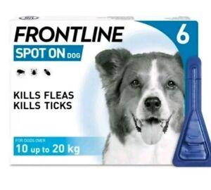 Frontline Spot On Medium Dog 10-20kg 6 Pipettes Exp: 11/2022 AVM-GSL