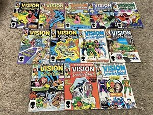 VISION AND SCARLET WITCH 1-12 full set lot 1st SPEED WICCAN twin babies VF+ NM-