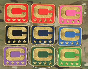 NFL TEAM LEADER JERSEY CAPTAINS PATCH FOUR-STAR 4-⭐DARK GREEN CAPTAINS PATCH