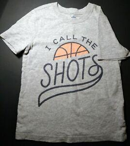 Kids Old Navy T-shirt, basketball shots, sports size 5 5t  short sleeve, print