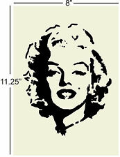"Stencil Pattern Template marilyn monroe 8"" x 11.25"" design painting airbrush"
