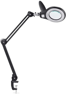 LED Magnifying Lamp, PHIVE Daylight Bright Magnifier Desk Lamp, Dimmable Task 5