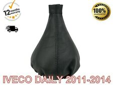 For Iveco Daily 2011-2014 Genuine Leather Gear Stick Gaiter Cover Black Stitch