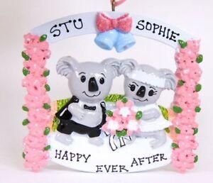 Personalised Ornament/Decoration/Gift - Koala Wedding