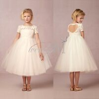 Flower Girl Kid Tutu Dress Princess Party Wedding Birthday Bridesmaid Tulle Gown