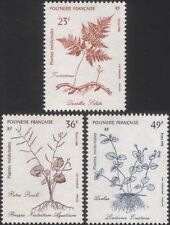 Polinesia FRANCESE 1988 piante/NATURA/medico/medicinali/Salute Set 3 V (n45313u)