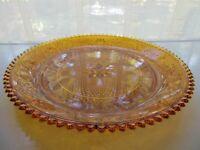 "Tiara Indiana Glass Amber Sandwich 12"" Serving Platter Tray"
