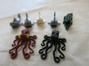 Lot Lego Sea Creatures Animals Octopus Shark & Alligator