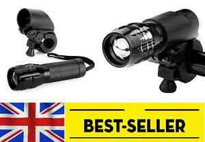 Front zoom flash light set - bright torch lamp white led lights bike aluminium