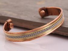 Unisex Magnetic Healing Bio Therapy Tibetan Pain Relief Copper Bracelet Brecelet