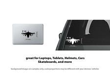 F 16 Falcon Jet Plane style 2 Vinyl Decal Sticker Laptop, Tablet, Truck Window