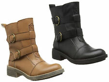 Rocket Dog Buckle Block Heel Ankle Boots for Women