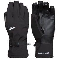 DLX Kabuto II DLX Softshell Mens Ski Gloves Waterproof & Padded Black