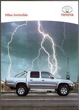 Toyota Hilux Invincible 4WD Double Cab Pick-Up 2004 UK Market Sales Brochure