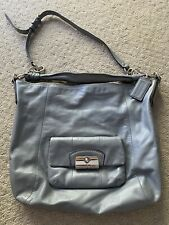 Coach Kristin Powder Blue Large Hobo Leather Tote Bag