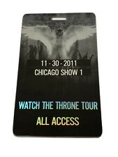 Kanye West Jays Z Authentic Watch The Throne 2011 Tour All Access Chicago Show1