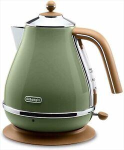 Delonghi Electric kettle 1.0L ICONA Vintage Collection KBOV1200J-GR Olive AC100V