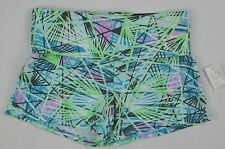 Aeropostale Blue Green Fold-over Pink Yoga Shorts size S Small