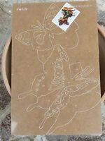 NUOVO Tavola Tavoletta legno compensato prestampata hobby mod farfalle