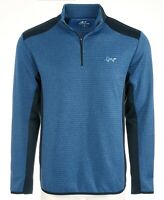 Greg Norman Men Activewear Jacket Blue Size Small S Attack Life Pullover $70 103