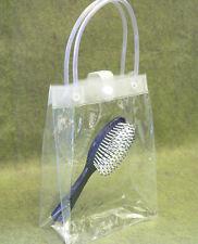 "10 Vinyl Soft Handle Bag  6x3x8"" Pouch Bath Baby Shower Cosmetic Beauty Supplies"