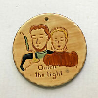 Outen the Light Pennsbury Pottery Amish Ornament
