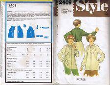 Patron Blouse Chemise Liquette Taille 38 STYLE France couture modèle femme