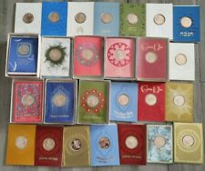 New ListingLot of 54 Franklin Mint Vintage Holiday Greeting Cards with Bronze Metal Coin