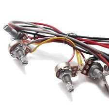 3 Way Wiring Harness Toggle Switch 2V2T Pots & Jack For Les Paul LP Guitar