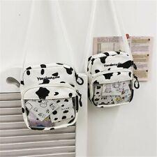 Cow Print Transparent Itabag Crossbody Bag Women Small Doll Shoulder Handbag