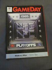 1985 New York Giants vs. San Francisco 49ers Playoff Program