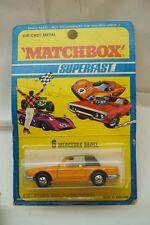 VINTAGE MATCHBOX CAR SUPERFAST MERCEDES 350SL 6 LESNEY ENGLAND 1971 MIP MOC