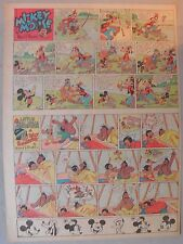 Mickey Mouse Sunday Page by Walt Disney from 6/15/1941 Tabloid Page Size