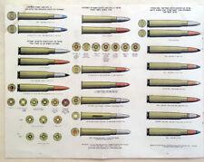 1948 Hebrew RIFLE Firearms BULLET Israel AMMUNITION Jewish IDF Military PRINT