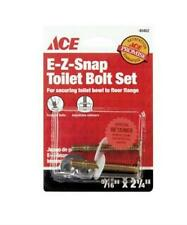 "Ace E-Z Snap Toilet Bolt Set, 5/16"" x 2-1/4"", Brass, #40462"