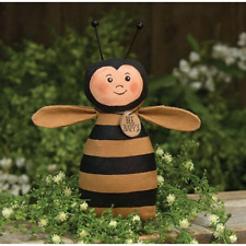 """New Primitive Country Folk Art BEE HAPPY Bumble Bee Doll  7"""""""