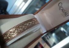 Clogau 9ct Welsh Gold Lady Guinevere Bracelet / Bangle - Yellow & Rose Gold