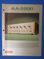 AKAI AA-5500 INTEGRATED AMP SALES BROCHURE ORIGINAL FACTORY ISSUE THE REAL THING
