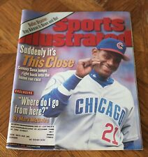New listing Sammy Sosa - Sports Illustrated 9/21/1998-Suddenly it's this close-Chicago Cubs