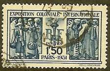 """FRANCE TIMBRE STAMP N° 274 """" EXPOSITION COLONIALE PARIS 1F50 1931 """" OBLITERE TB"""