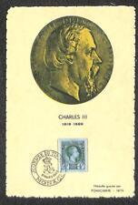 MONACO SCOTT B95 STAMP DAY PRINCE CHARLES III MAXIMUM CARD FDC POSTCARD 1948