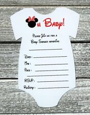 Minnie mouse baby shower invitations for sale ebay set of 10 red minnie mouse baby shower invitations with envelopes fill in filmwisefo