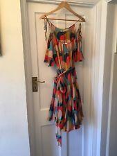 New Jaeger London 100% Silk Chiffon Overlapping Circles Summer Dress,12