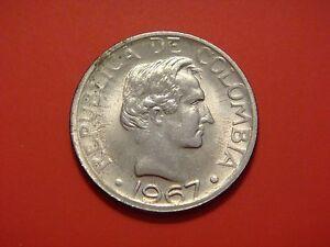 Colombia 20 Centavos, 1967, Santander