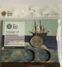 2019 RM Brilliant Uncirculated Captain Cook £2 Coin Voyage Of Discovery Pack New