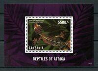 Tanzania Lizards Stamps 2014 MNH Reptiles of Africa Geckos Fauna 1v S/S