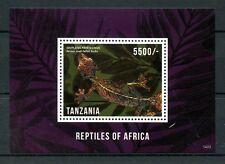 Tanzania 2014 Gomma integra, non linguellato RETTILI D'AFRICA 1v S/S LUCERTOLE GECHI FRANCOBOLLI