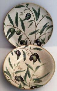 Williams Sonoma Serving Platter & Bowl Olive Design- Portugal