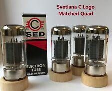 6550C Svetlana C Logo Matched Quad NOS tube valve